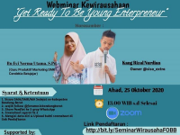 Webminar Kewirausahaan Forum OSIS Bandung Barat