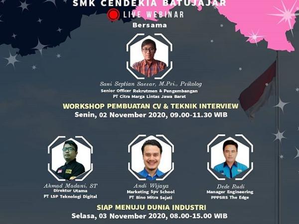 Webinar Workshop Pembuatan CV dan Teknik Interview Agar Siap Menuju Dunia Industri